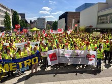 Nürnberg: Streikauftakt im Handel
