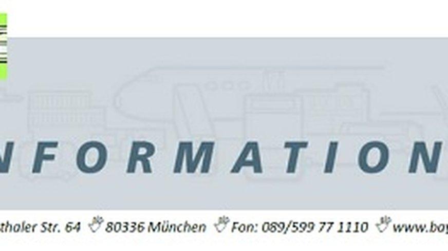 Das Flugblattlayout von dem Infodienst des Fachbereichs
