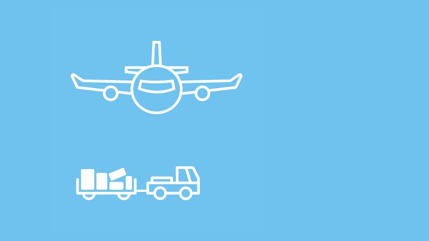 Logo des Luftverkehrs