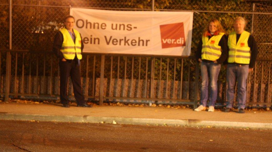 Streikaktion in Augsburg